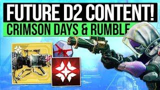 Destiny 2 News | FUTURE CONTENT! - Crimson Days, Masterwork Armor, New Year Changes & Rumble PvP?