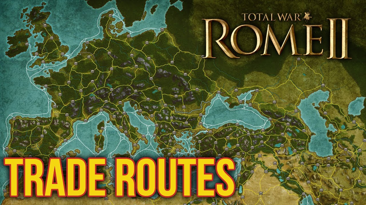 Total War Rome II Trade Routes Trading And Settlement Map - Rome total war map city locations