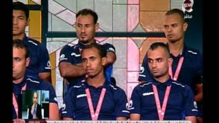 تكريم فريق المنتخب المصري لكرة القدم للصم والبكم بعد فوزه بالميدالية البرونزية في بطولة العالم