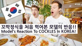 꼬막정식을 처음 먹어본 미국인 모델의 반응!! (335/365) Model's Reaction To COCKLES In KOREA!