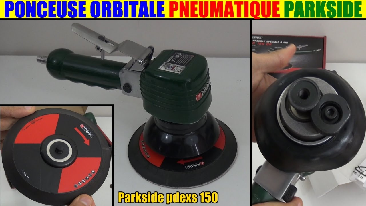 Ponceuse Excentrique Parkside Lidl Air Comprimé Pneumatique Orbitale Random Orbital Air Sander