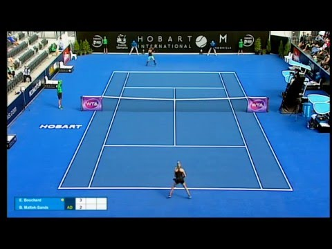 Eugenie Bouchard v Bethanie Mattek-Sands full match (1R) | Hobart International 2016