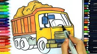 Come disegnare e colorare camion 🚚   Disegno   Colorare   Come colorare per bambini