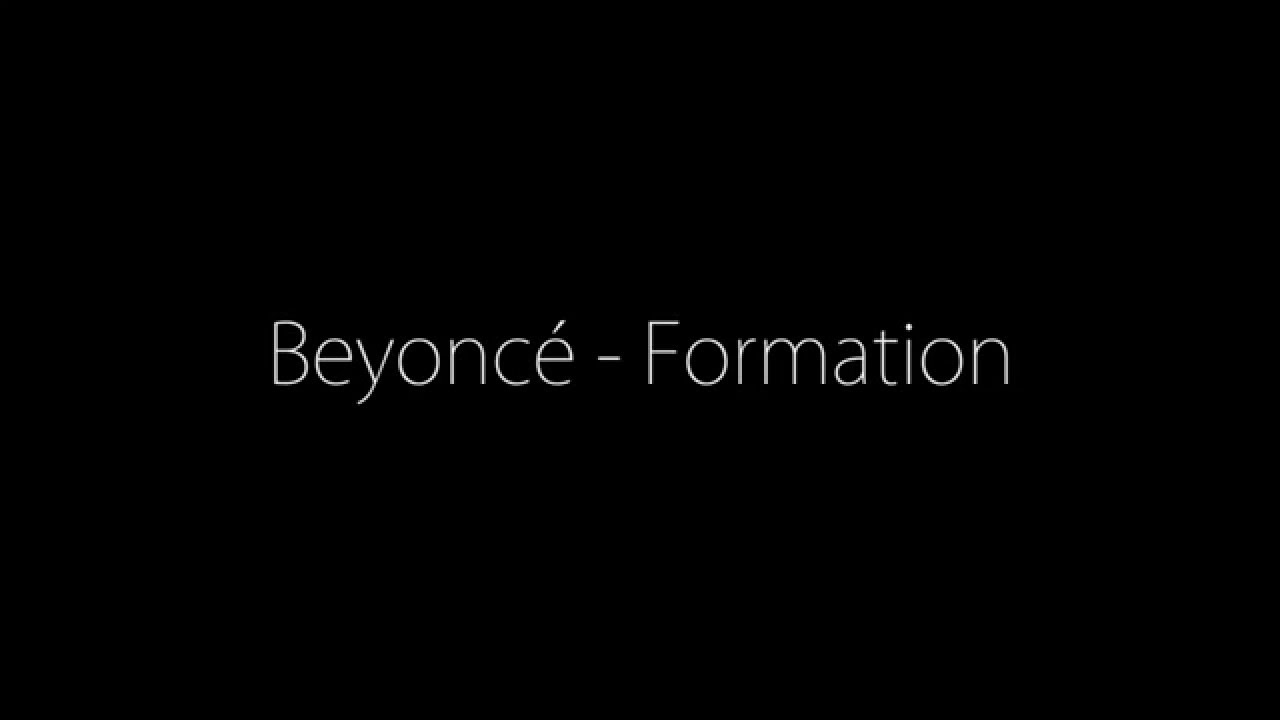 Beyoncé - Formation (Lyrics on Screen) - YouTube