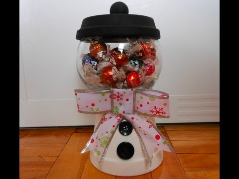 Diy Holiday Candy Jar Theeasydiy Crafty Youtube