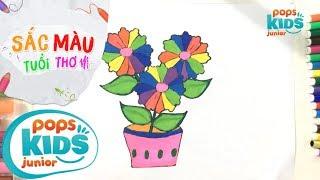 Sắc Màu Tuổi Thơ - Tập 59 - Bé Tập Vẽ Chậu Hoa | How To Draw Colorful Flower Pot