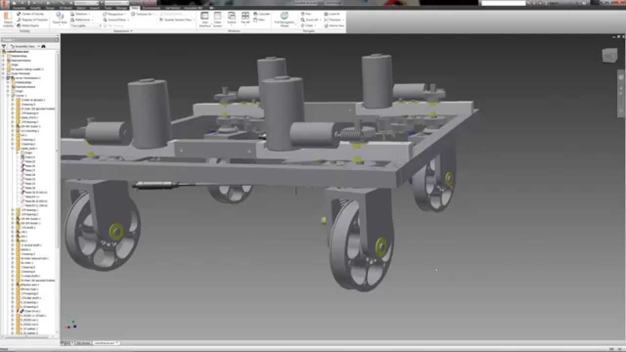 2015 FRC prototype two speed swerve drive rough design - YouTube