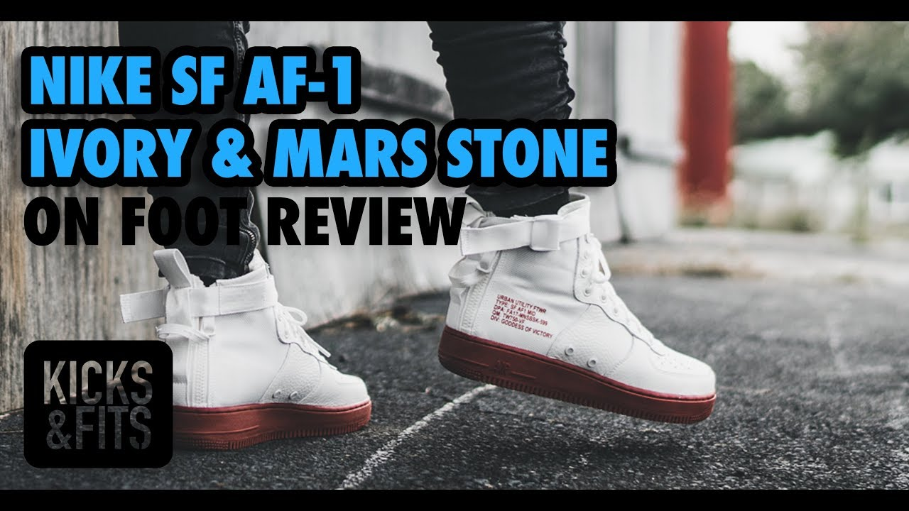 Mancha Disminución Deportista  Nike SF AF-1 Mid 'Ivory & Mars Stone' ON FOOT Review | Kicks and Fits -  YouTube