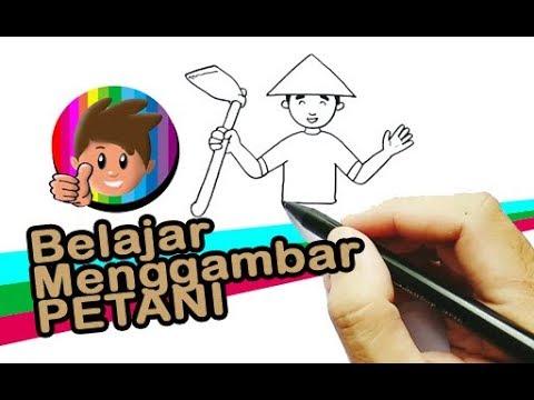 How To Draw Belajar Menggambar Orang Bagian 2 Petani Youtube