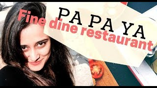 "AWESOME FOOD VIDEO Of ""PA PA YA"" - Fine Dine Restaurant at Select City Walk Mall"