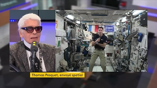 Karl Lagerfeld interviewe Thomas Pesquet depuis la station spatiale internationale