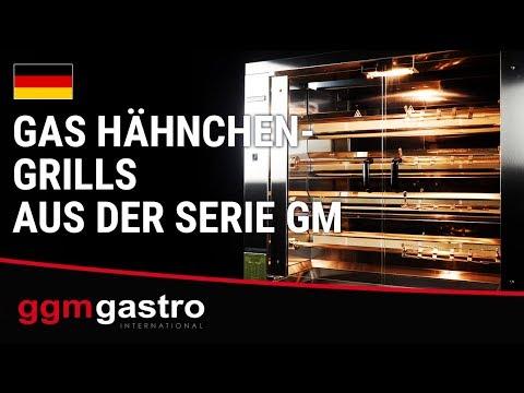 1098 x 480 x 10 Gas Hähnchengrill ECO mit 4 Spießen für 24 Hähnchen GM424E-B