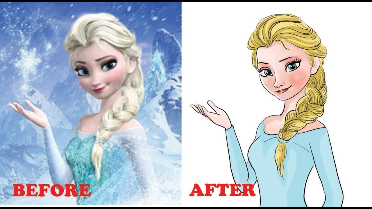 How To Color Elsa From Frozen Narrated Step By Step Part 2 Youtube
