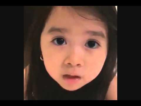 "Baby Girl Says ""I Love You"" So Cute."