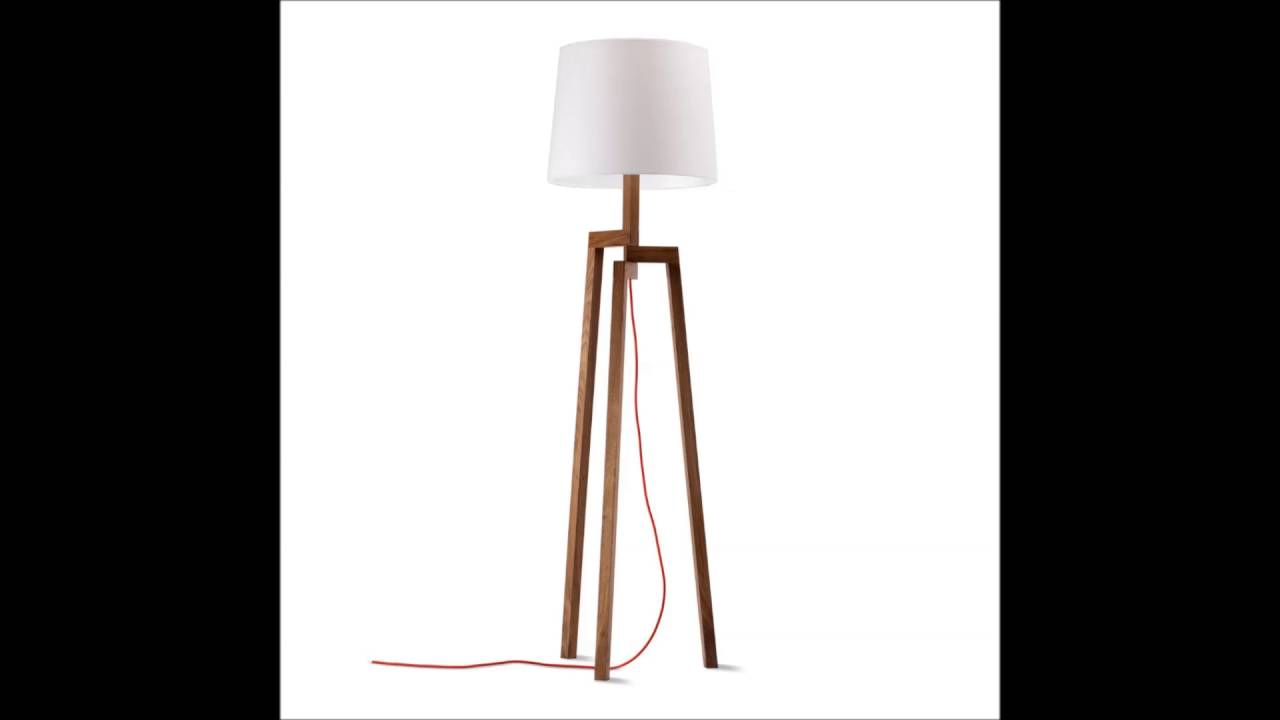Contemporary Wood Floor Lamp - Contemporary Wood Floor Lamp - YouTube