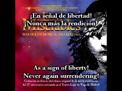 Les Misérables - Sale el sol/One day more Spanish w/subs and trans.
