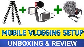 Mobile Vlogging Setup Unboxing In Telugu-Best Budget Mobile Vlogging Setup In Telugu-Vlogging Setup