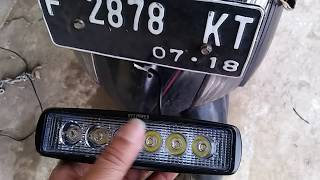 Video MUDAH SAJA cara pasang LAMPU LED tembak depan UNTUK MOTOR download MP3, 3GP, MP4, WEBM, AVI, FLV September 2018