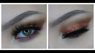 JUVIA'S PLACE Nubian 2 Palette Tutorial | Fall Copper/Glitter Look