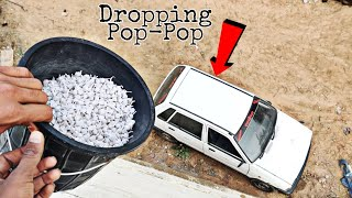 Dropping Pop Pop Crackers On Our Car    Pop Pop Crackers vs Car Experiment    Experiment King