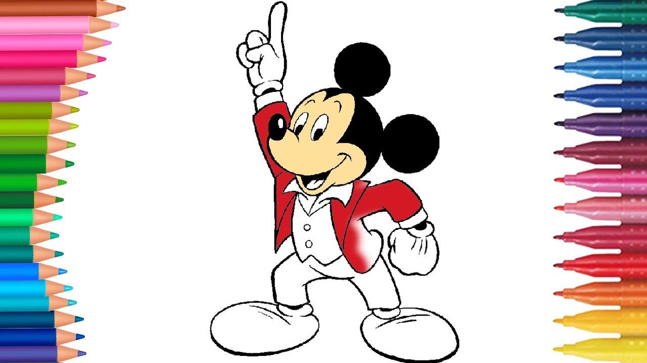 Halaman Mewarnai Mickey Mouse Buku Mewarnai Tangan Kecil Youtube