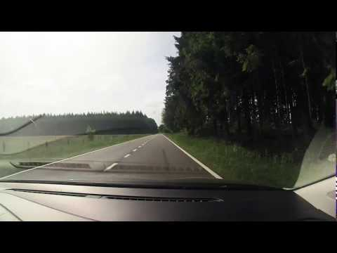 Driving Brussels to Vianden Castle in luxembourg