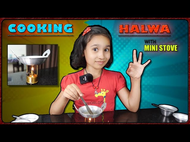 Real Halwa Cooking By Pari / PART-34 / miniature kitchen set | #LearnWithPari #Aadyansh