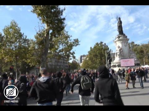 """Ni dieu, ni Maître, ni Mélenchon"" - manif des insoumis à Paris  23/09/17"
