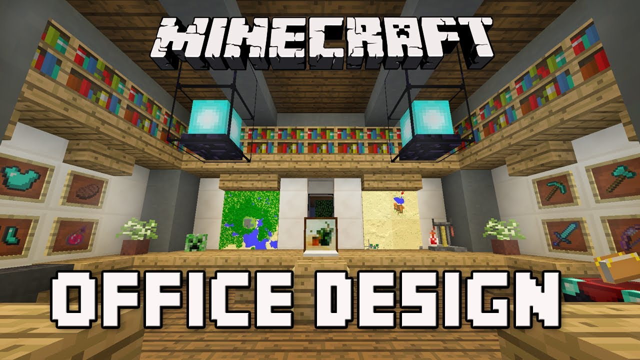build an office. Minecraft Tutorial: How To Build A Modern House Ep.8 (Cool Office Furniture Design Ideas) - YouTube An D