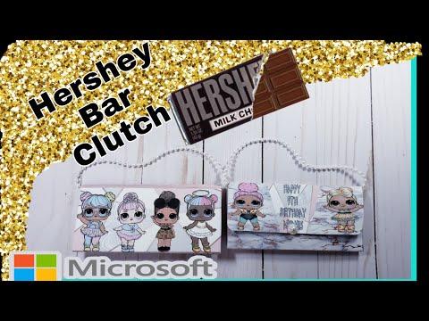Hershey Bar Clutch/Purse Tutorial Using Microsoft Word