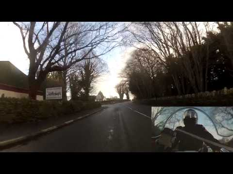 Isle of Man. Last Day. TT Course Lap One