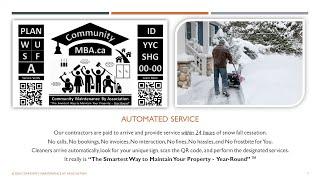 CommunityMBA.ca Winter Service Intro - Narrated