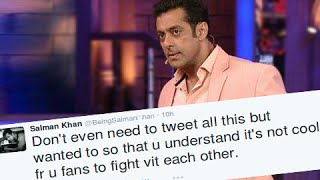 Salman Khan SLAMS Abusing Fans On Twitter