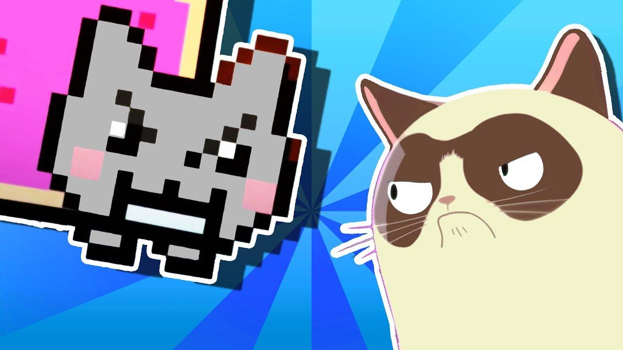 Youtube Grumpy Cat Vs Nyan Cat