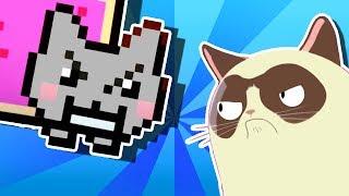 Video YO MAMA'S RAP BATTLES! Nyan Cat vs Grumpy Cat download MP3, 3GP, MP4, WEBM, AVI, FLV April 2018