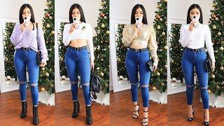 Download lagu 1 Pantalon 10 Outfits 👖 Como Combinar Jeans 🦄 Bessy Dressy