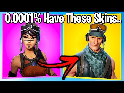 TOP 20 RAREST SKINS IN FORTNITE RANKED WORST TO BEST!