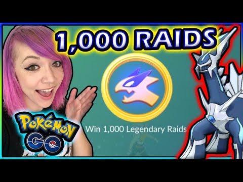 HITTING 1,000 LEGENDARY RAIDS IN POKÉMON GO! thumbnail