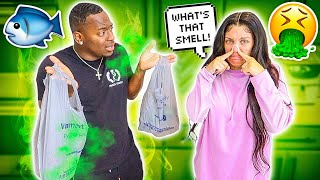 COMING HOME FROM THE GROCERY STORE SMELLING LIKE CATFISH PRANK **BAD IDEA**