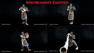 [For Honor] Bard's Lute/Bard's Flute/Bard's Hapr/Bard's Horn Emotes Ft. Warden