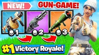 GUN GAME *NEW* MODE in FORTNITE Battle Royale! (Challenge) thumbnail