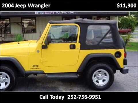 2004 jeep wrangler used cars greenville nc youtube. Black Bedroom Furniture Sets. Home Design Ideas