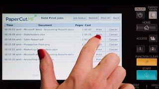 PaperCut MF for Toshiba e-STUDIO Multifunction Devices Interface Walkthrough