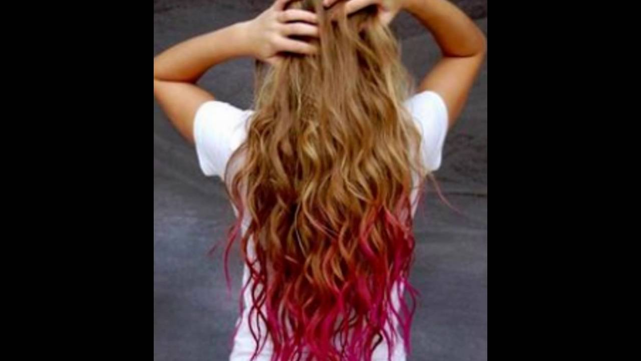Pink And Lavender Highlights For Honey Blonde Hair Youtube