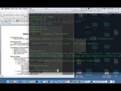 RMAN Backup and Recovery in oracle 11g on linux | Introduction