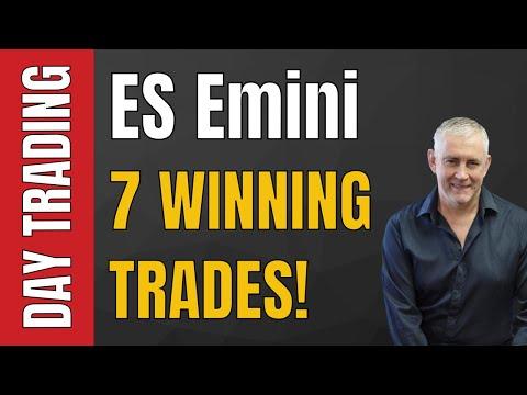 ES Emini 7 Winning Trades, Just!