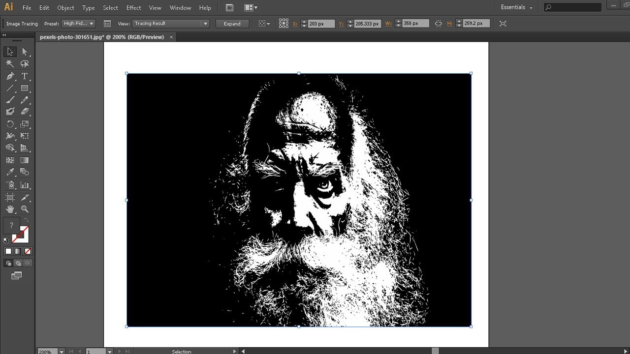 Inkscape convert image to black and white