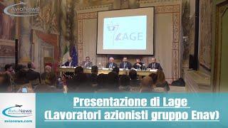 Presentazione di Lage (Lavoratori azionisti gruppo Enav)