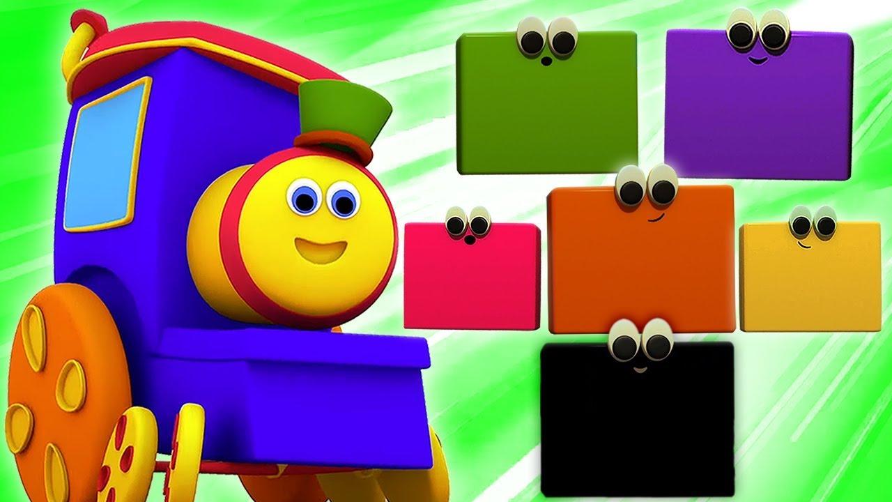 밥 기차 색상   비디오를 배우는 아이들   색상을 가르쳐   한국의 색상   Bob The Train ...