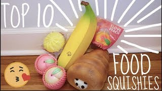 TOP 10 FAVORITE FOOD SQUISHIES!!!!!